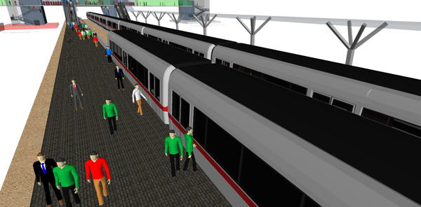 City Rail Transfer Hub Simulation